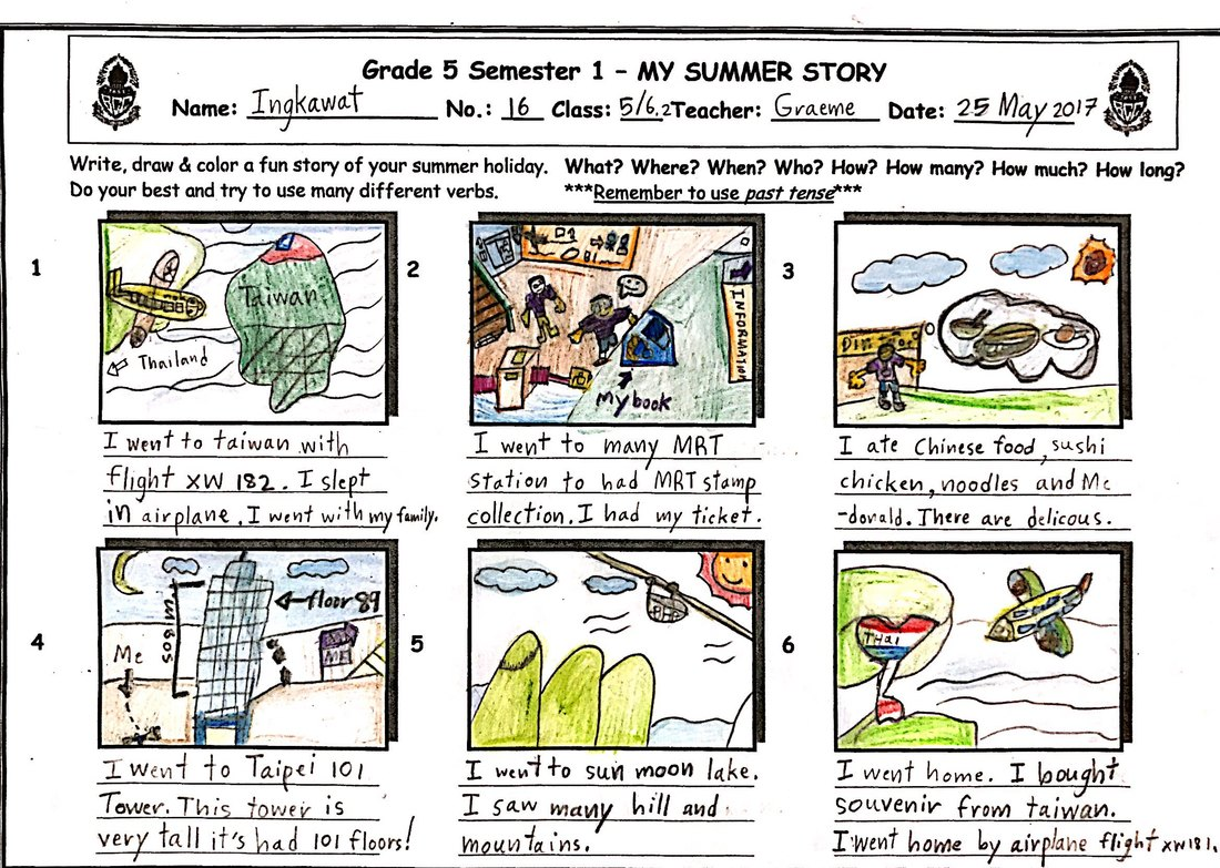vacation comic stories - Teacher Graeme's Grade 5 IEP Blog